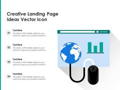 Creative Landing Page Ideas Vector Icon Ppt PowerPoint Presentation Gallery Smartart PDF
