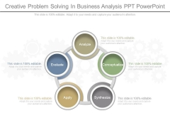 Creative Problem Solving In Business Analysis Ppt Powerpoint