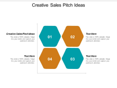 Creative Sales Pitch Ideas Ppt PowerPoint Presentation Ideas Clipart Cpb