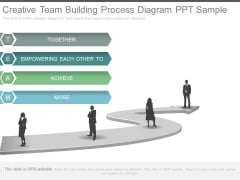 Creative Team Building Process Diagram Ppt Sample