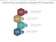 Creative Way Consideration Sample Ppt Presentation