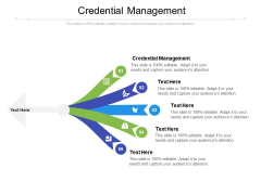 Credential Management Ppt PowerPoint Presentation Pictures Show Cpb Pdf