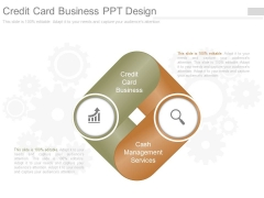 Credit Card Business Ppt Design