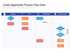 Credit Department Process Flow Chart Ppt PowerPoint Presentation Gallery Summary PDF