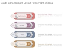 Credit Enhancement Layout Powerpoint Shapes