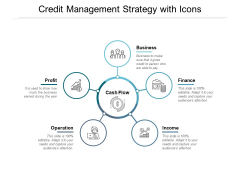 Credit Management Strategy With Icons Ppt PowerPoint Presentation Layouts Objects