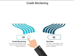 Credit Monitoring Ppt PowerPoint Presentation Show Templates Cpb
