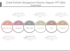 Credit Portfolio Management Solution Diagram Ppt Slide Download