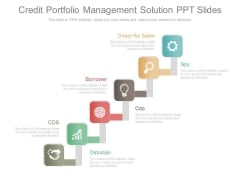Credit Portfolio Management Solution Ppt Slides