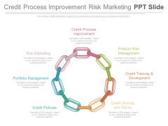 Credit Process Improvement Risk Marketing Ppt Slide