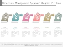Credit Risk Management Approach Diagram Ppt Icon