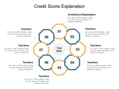 Credit Score Explanation Ppt PowerPoint Presentation Background Cpb
