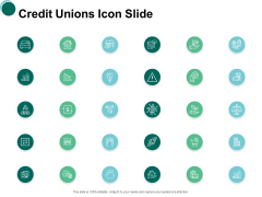 Credit Unions Icon Slide Agenda Ppt PowerPoint Presentation Outline Ideas
