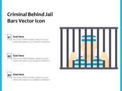 Criminal Behind Jail Bars Vector Icon Ppt PowerPoint Presentation Gallery Design Inspiration PDF