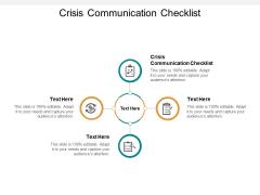 Crisis Communication Checklist Ppt PowerPoint Presentation Show Format Ideas Cpb