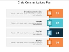 Crisis Communications Plan Ppt PowerPoint Presentation Summary Master Slide Cpb