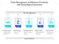 Crisis Management And Business Continuity With Technological Innovation Ppt PowerPoint Presentation Infographics Graphics Tutorials PDF