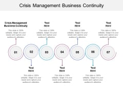 Crisis Management Business Continuity Ppt PowerPoint Presentation Infographic Template Ideas Cpb