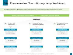 Crisis Management Crisis Communication Plan Message Map Worksheet Ppt Model Infographics PDF
