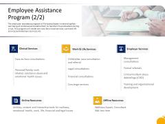Crisis Management Presentation Employee Assistance Program Financial Brochure PDF