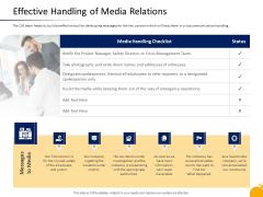 Crisis Management Program Presentation Effective Handling Of Media Relations Summary PDF
