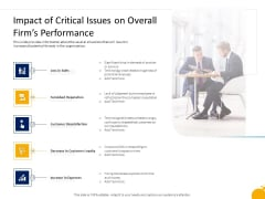 Crisis Management Program Presentation Impact Of Critical Issues On Overall Firms Performance Structure PDF