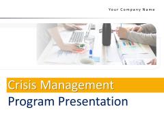 Crisis Management Program Presentation Ppt PowerPoint Presentation Complete Deck With Slides
