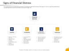 Crisis Management Program Presentation Signs Of Financial Distress Professional PDF
