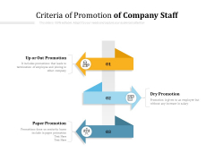 Criteria Of Promotion Of Company Staff Ppt PowerPoint Presentation Model Graphics Template