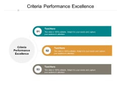 Criteria Performance Excellence Ppt PowerPoint Presentation Gallery Slide Cpb