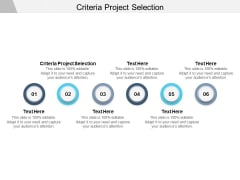 Criteria Project Selection Ppt PowerPoint Presentation Model Inspiration Cpb