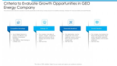 Criteria To Evaluate Growth Opportunities In GEO Energy Company Inspiration PDF