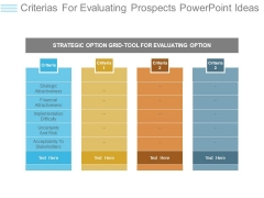 Criterias For Evaluating Prospects Powerpoint Ideas