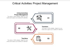 Critical Activities Project Management Ppt PowerPoint Presentation Pictures Model Cpb Pdf
