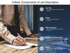 Critical Components Of Job Description Ppt PowerPoint Presentation Layouts Model