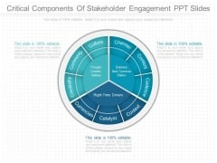 Critical Components Of Stakeholder Engagement Ppt Slides