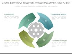 Critical Element Of Investment Process Powerpoint Slide Clipart