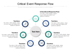 Critical Event Response Flow Ppt PowerPoint Presentation Infographics Good Cpb
