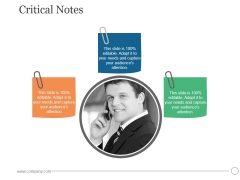 Critical Notes Ppt PowerPoint Presentation Clipart