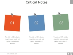 Critical Notes Ppt PowerPoint Presentation Model Template