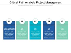 Critical Path Analysis Project Management Ppt PowerPoint Presentation Infographics Background Images Cpb