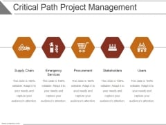 Critical Path Project Management Ppt PowerPoint Presentation Designs