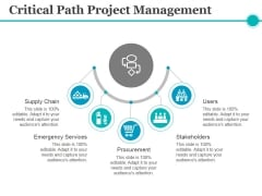 Critical Path Project Management Ppt PowerPoint Presentation Portfolio Visual Aids
