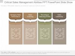 Critical Sales Management Abilities Ppt Powerpoint Slide Show