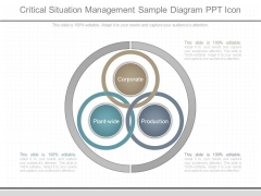 Critical Situation Management Sample Diagram Ppt Icon
