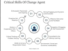 Critical Skills Of Change Agent Template 2 Ppt PowerPoint Presentation Background Designs