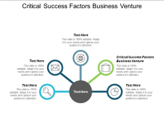 Critical Success Factors Business Venture Ppt PowerPoint Presentation Outline Summary Cpb
