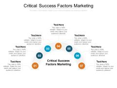 Critical Success Factors Marketing Ppt PowerPoint Presentation Show Portrait Cpb