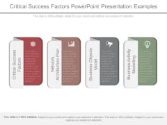 Critical Success Factors Powerpoint Presentation Examples