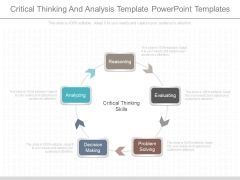 Critical Thinking And Analysis Template Powerpoint Templates